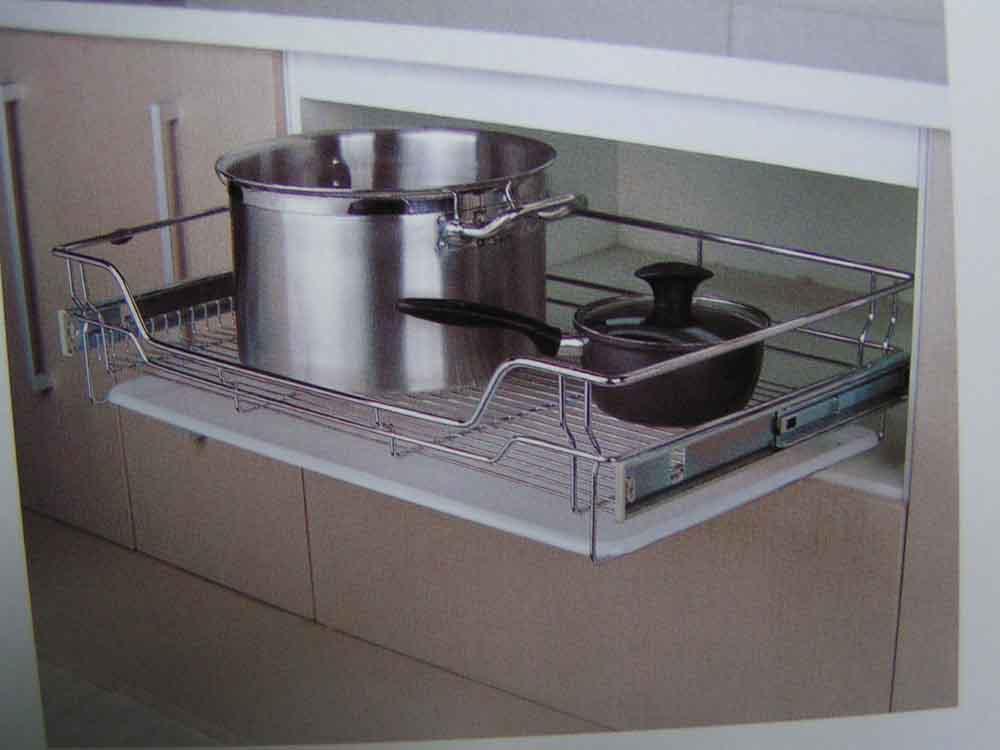 带滴水盘炉台拉篮800-欧派拉篮系列-广州欧派厨柜平湖图片