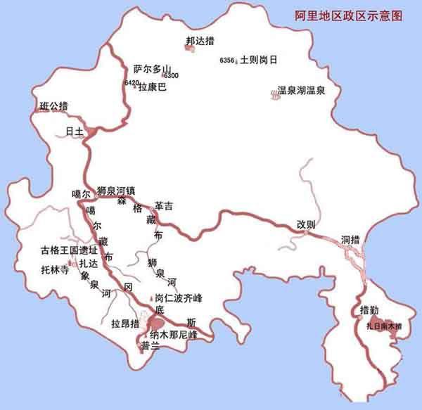 西藏拉萨旅游地图